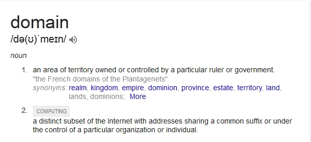what does domain mean for google